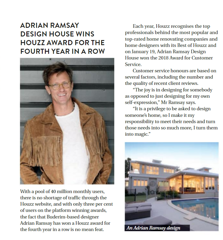 Houzz Award Winner Adrian Ramsay ARDH