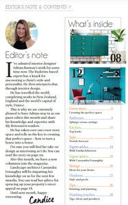 Feature Editor Adrian Ramsay talks interior design in My Renovation Magazine this October