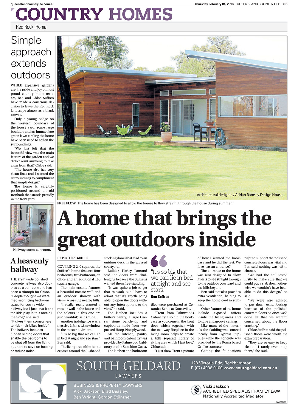 Queensland Country Homes ARDH feature new build