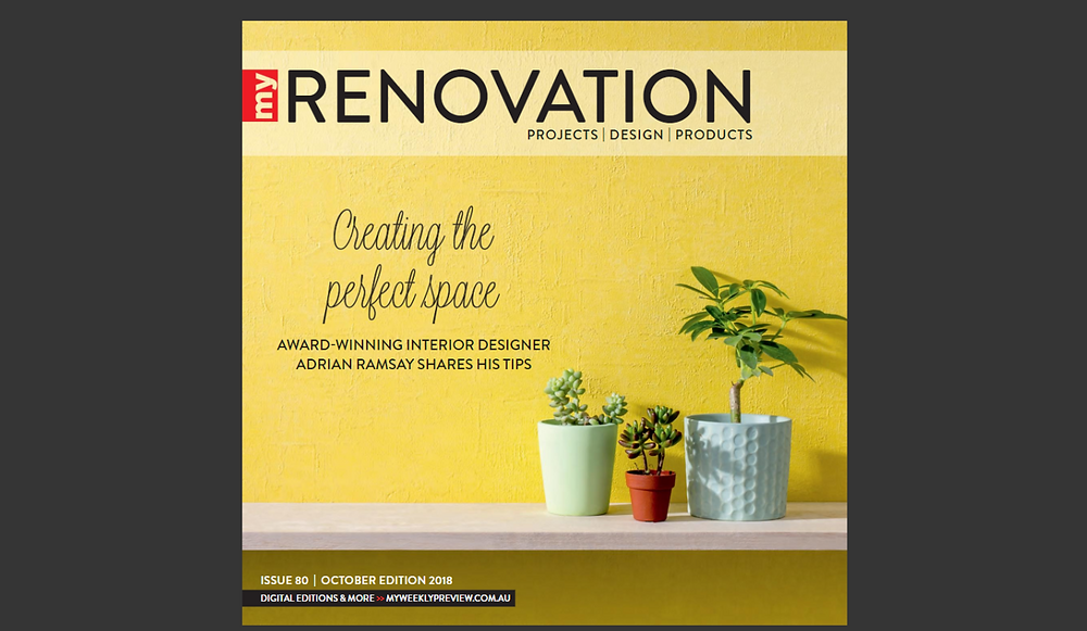 ARDH Adrian Ramsay talks about interior design with My Renovation Magazine