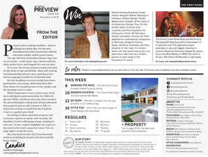 My Weekly Preview Contents Page with Adrian Ramsay