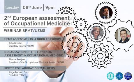 8 de junho | 21h - Webinar SPMT/UEMS - 2.º Exame UEMS de Medicina do Trabalho