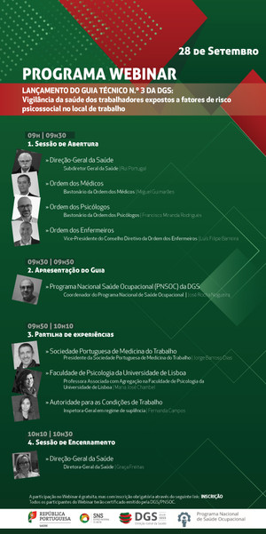 Webinar | Lançamento do Guia Técnico n.º3 da DGS