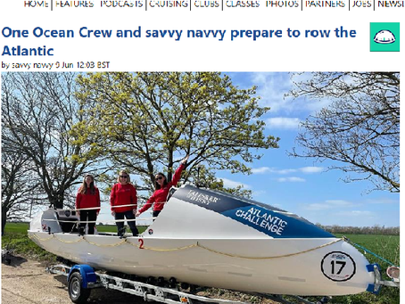 Sail-World: One Ocean Crew and savvy navvy prepare to row the Atlantic