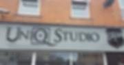 Flat cut lettering