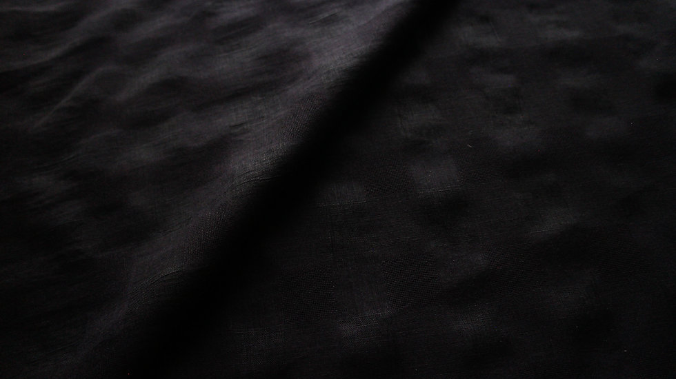 Black Check Linen Shirt