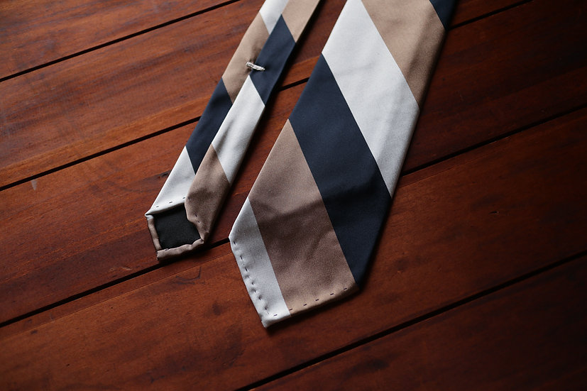 Block Stripe Silk Tie