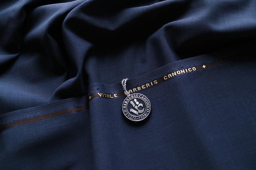 Dark Blue Open Weave by Vitale Barberis Canonico (sold by 0.5m)