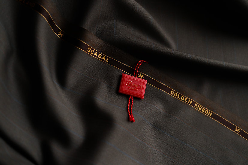 Brown Pinstripes Scabal