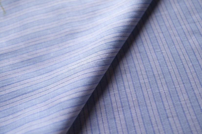 Vintage Blue Linen Stripes from Monti (1.6m)