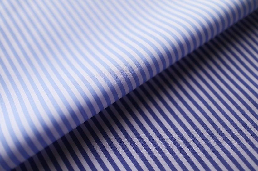 Blue Stripe Poplin Shirt