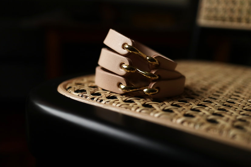 S Hook Leather Cuffs