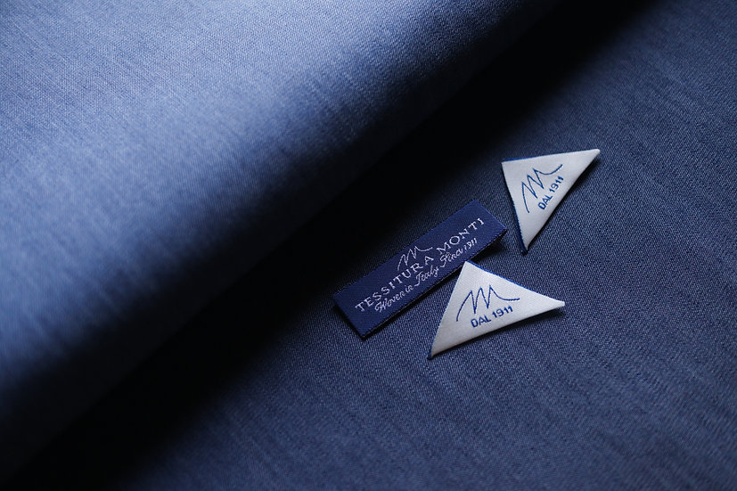 Indigo Denim Shirting from Monti (1.6m)