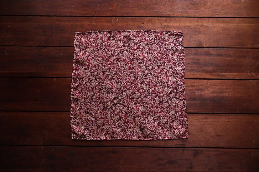 Red Floral Silk Pocket Square