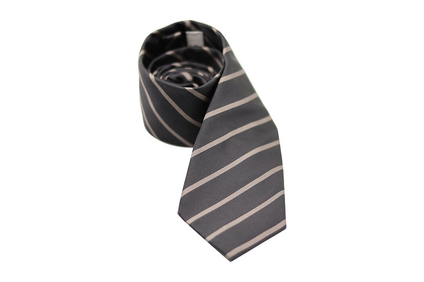 Brown Stripe Silk Tie
