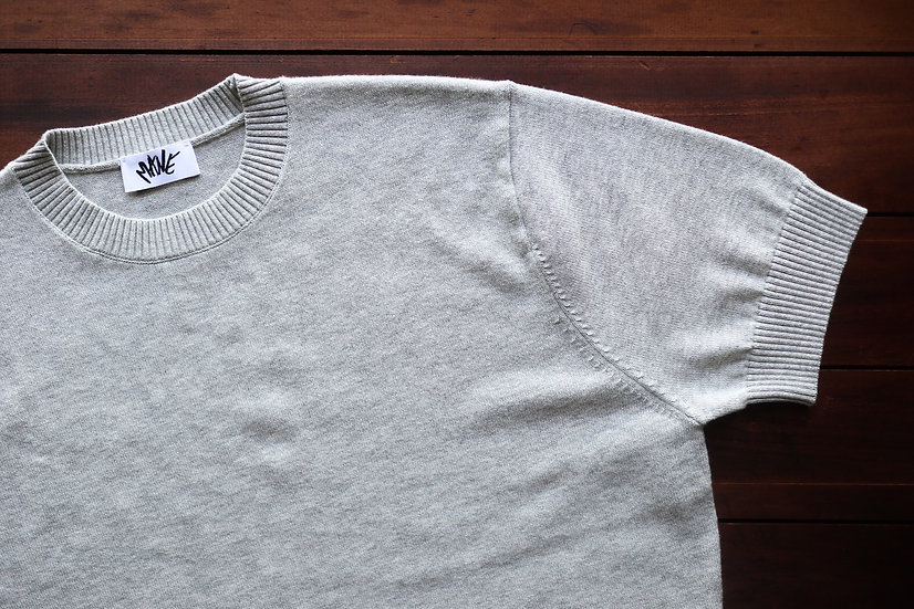 Grey Knitted Tee