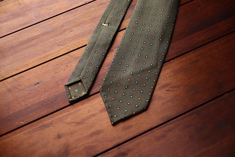 Green Floral Motifs Tie