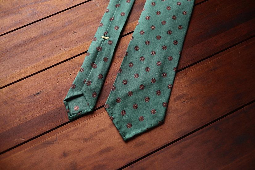 Green Madder Silk Tie