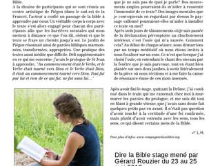 «Dire la Bible»