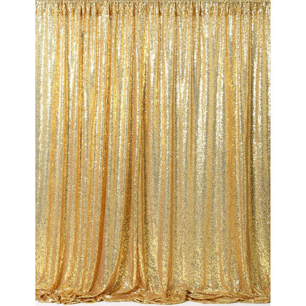 Gold Curtain Sequin Backdrop