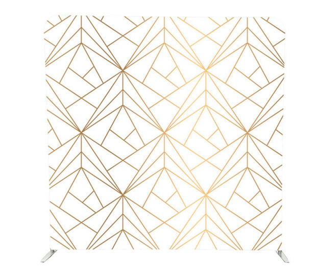 Geometric White and Gold