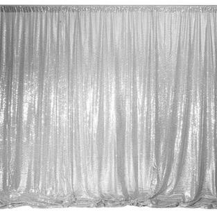Silver Sequin Backdrop
