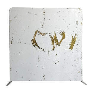White and Gold Sequin Backdrop
