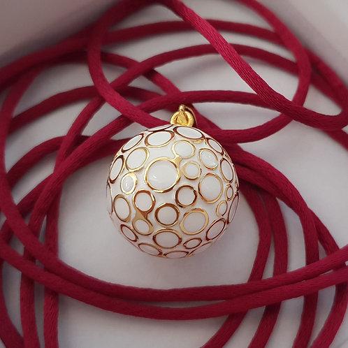 Bola blanc et doré + 4 cordons au choix