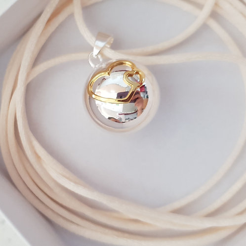 Bola cœur doré + 4 cordons au choix