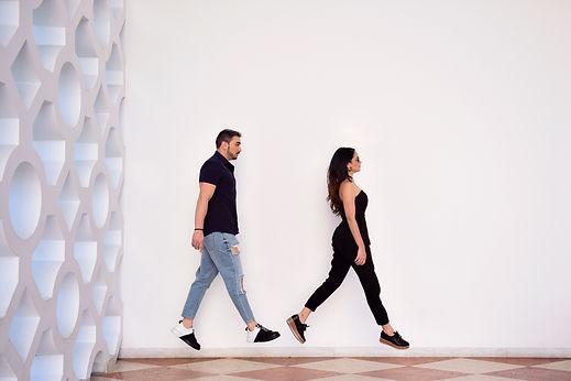 Murad Mohamad e Jessica Sarria
