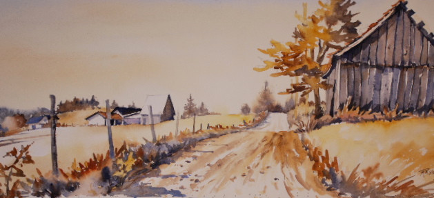 Old Road by the Barn II