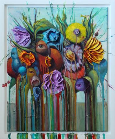 Floating Flowers - Orange Eye
