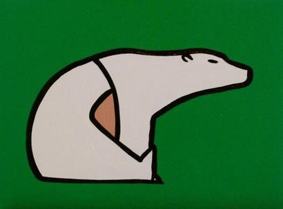 Polar Bear on Green