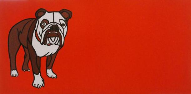 Bulldog on Orange