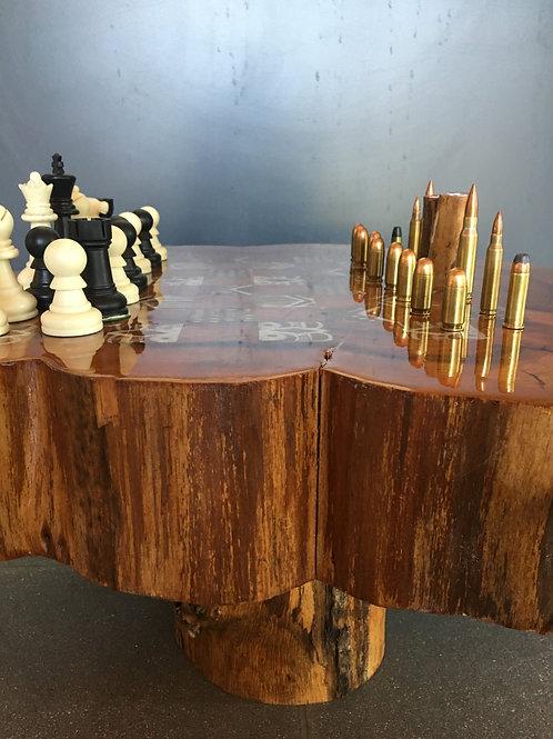 Man vs. Nature (chess and checker set)