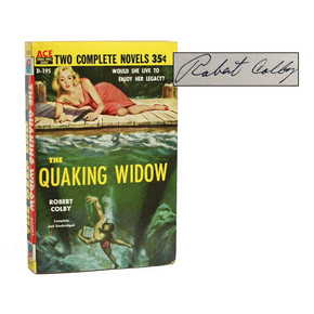 ACE DOUBLE: THE QUAKING WIDOW / THE DEEP END SIGNED BY ROBERT COLBY