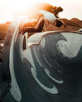 Concrete waves by JOHN