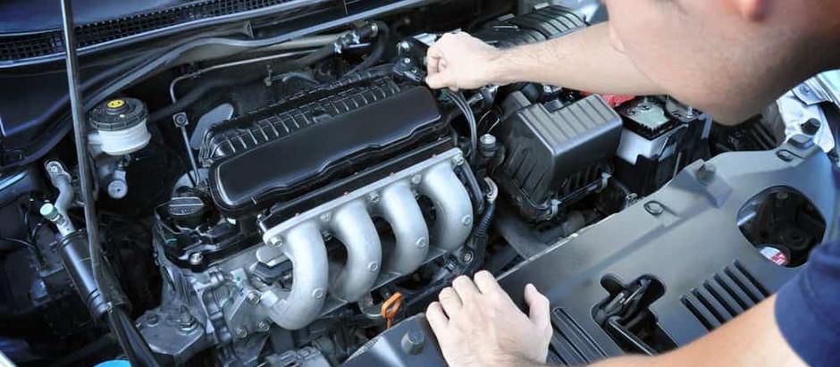 As principais peças do motor: