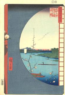 真崎辺より水神の森内川関屋の里を見る図