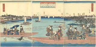 隅田川渡しの図 『東都名所図会』(広重)