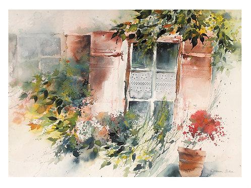 """Original Bild """"Fenster in Rottenburg beim Haus am Nepomuk"""""""