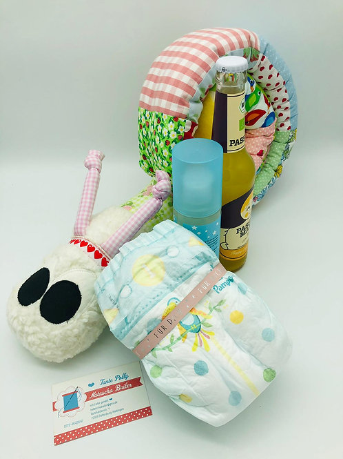 """Baby Willkommensbox Geschenk """"Mädchen"""" by Tante Polly handmadeby Natascha Bailer"""