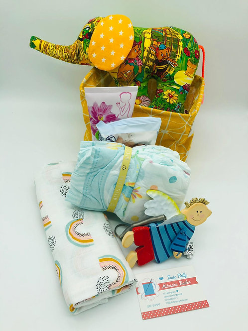 """Baby Willkommensbox """"Junge"""" by TantePolly handmade by Natascha Bailer"""