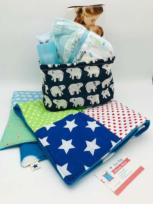 """Baby Willkommensbox """"Junge 2"""" by Tante Polly handmade by Natascha Bailer"""