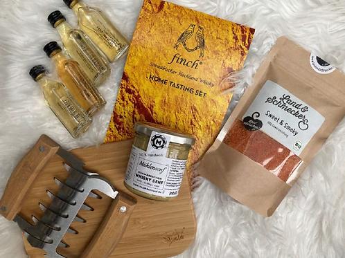 Geschenkbox Whiskytasting mit BBQ Zubehör by Heimat.Glanz