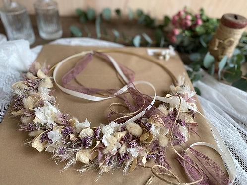 Loop Trockenblumen beige/rosé by blütenmanufaktur