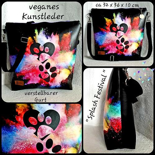 """Kunstledertasche """"Farbenexplosion"""" by JCB creativ ideas"""