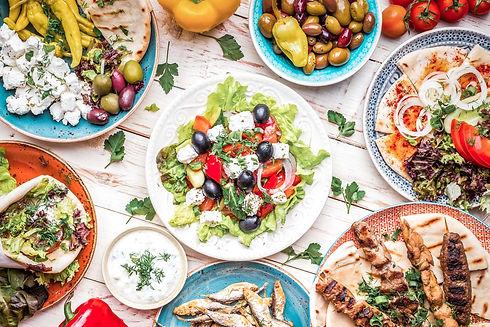 Griechische-Gerichte-Typische-Küche-Ges