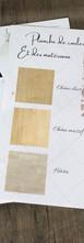 Planche d'échantillon