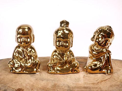 Buda Dourado 3 peças